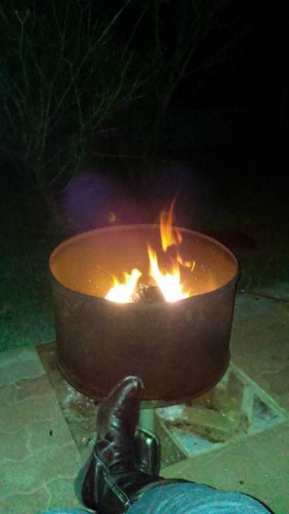 McLaren Vale bonfire